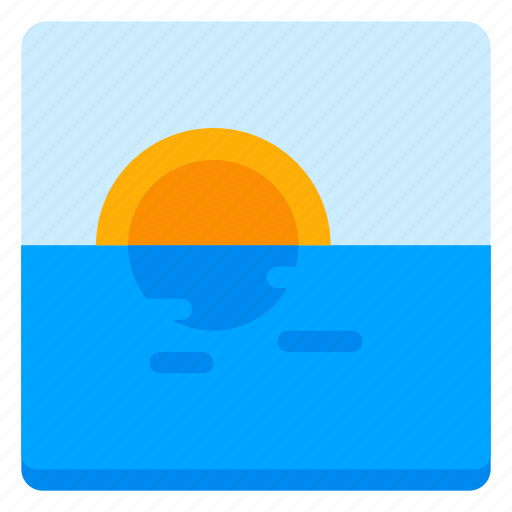 canvas, image, nature, picture, sea, shine, sun icon