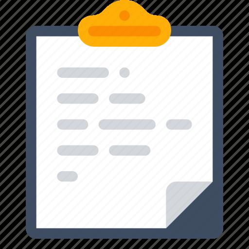 attach, clipboard, document, paste icon