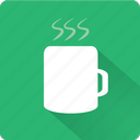 beverage, coffee, cup, drink, glass, mug, tea, warm icon