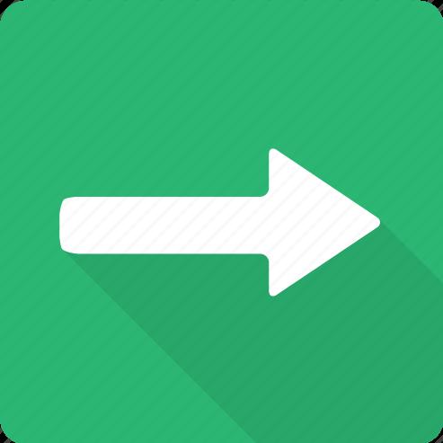ahead, arrow, forward, point, proceed, right icon