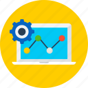 chart, installation, seo, set up, setting, web icon