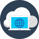 cloud, database, internet, seo, synchronous, web icon