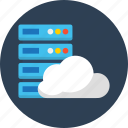 cloud, database, seo, synchronous, web icon