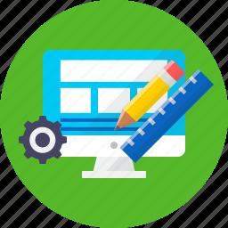 design, installation, landing page, seo, tool, web icon