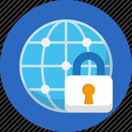 internet, lock, security, seo, web icon