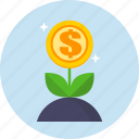 growth, money, profit, seo, web icon