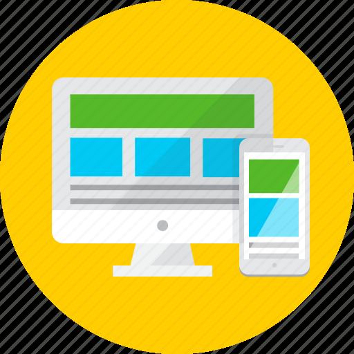design, landing page, responsive, seo, web, website icon