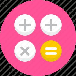 calculator, compute, math, seo, work icon