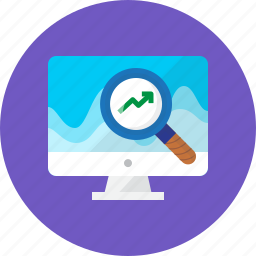 business, chart, search, securities, seo, stock, work icon