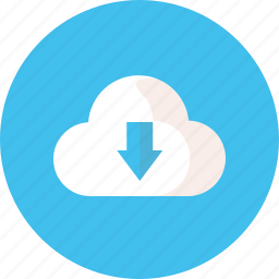 cloud, down, download, storage, work icon