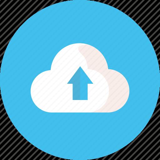cloud, storage, up, upload, work icon