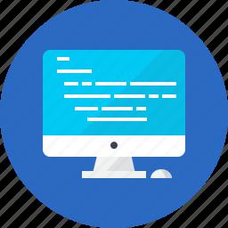coder, computer, development, technology, transfer, work icon