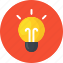 brainstorm, creative, idea, innovation, lamp, light, work icon