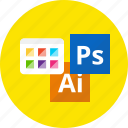 art, design, graphic, machine, palette, tool, work icon