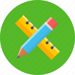 design, graphic, pencil, ruler, tool, work, write icon