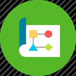 brief, document, plan, seo, work, workflow icon