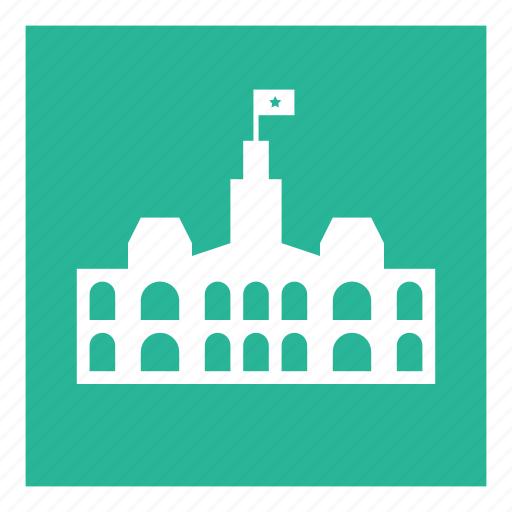 attraction, building, city, hall, saigon icon