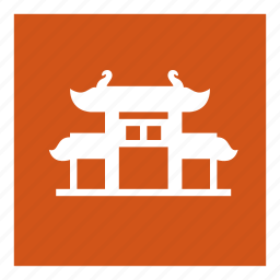 building, chinatown, gate, pagoda, saigon, temple icon
