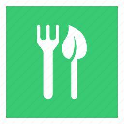 eat, food, leaf, restaurant, vegan, vegetarian icon