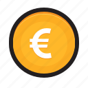 coin, currency, eur, euro, europe, money icon