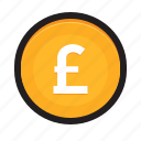 coin, currency, euro, gbp, money, pound, uk icon