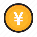 coin, currency, japan, japanese, money, yen icon