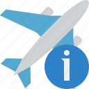 airplane, flight, information, plane, transport, travel icon