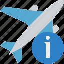 airplane, flight, information, plane, transport, travel