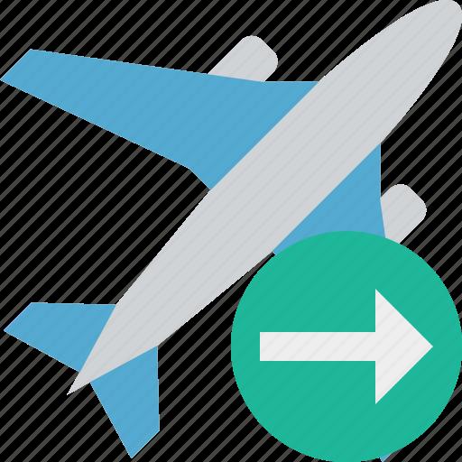 airplane, flight, next, plane, transport, travel icon