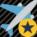 airplane, flight, plane, star, transport, travel