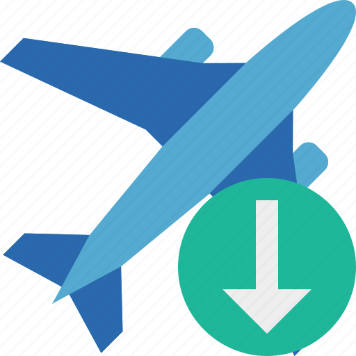 airplane, download, flight, plane, transport, travel icon