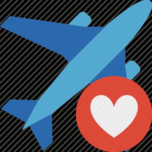 airplane, favorites, flight, plane, transport, travel icon