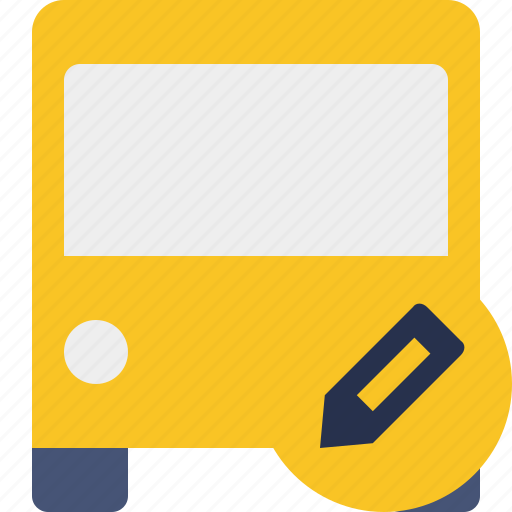 bus, edit, public, transport, transportation, travel, vehicle icon