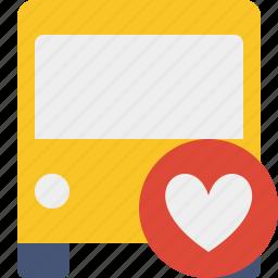 bus, favorites, public, transport, transportation, travel, vehicle icon