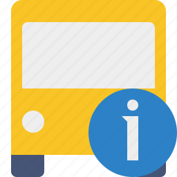 bus, information, public, transport, transportation, travel, vehicle icon