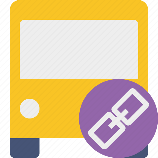 bus, link, public, transport, transportation, travel, vehicle icon
