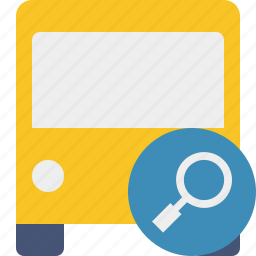bus, public, search, transport, transportation, travel, vehicle icon