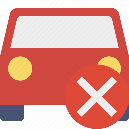 auto, cancel, car, traffic, transport, vehicle icon