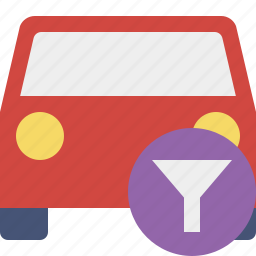 auto, car, filter, traffic, transport, vehicle icon
