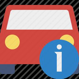 auto, car, information, traffic, transport, vehicle icon