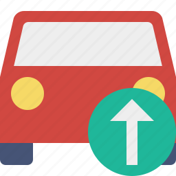auto, car, traffic, transport, upload, vehicle icon