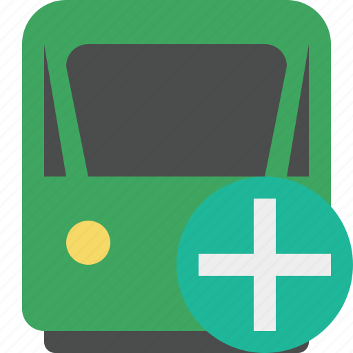 add, delivery, railway, train, transport, travel icon