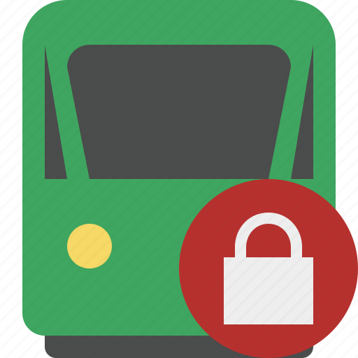 delivery, lock, railway, train, transport, travel icon