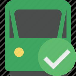delivery, ok, railway, train, transport, travel icon