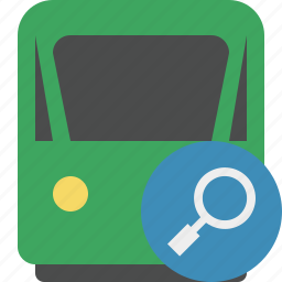 delivery, railway, search, train, transport, travel icon