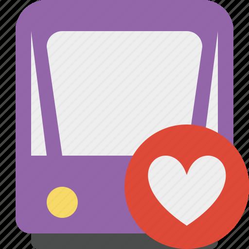 favorites, public, train, tram, tramway, transport icon