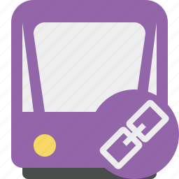 link, public, train, tram, tramway, transport icon