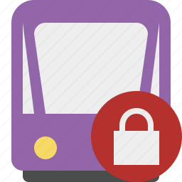 lock, public, train, tram, tramway, transport icon