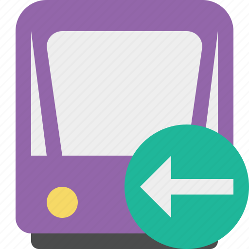 previous, public, train, tram, tramway, transport icon