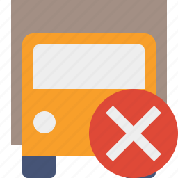 cancel, delivery, transport, transportation, truck, vehicle icon
